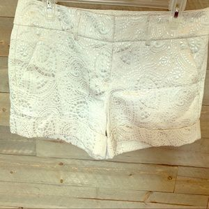 Silver and White shorts
